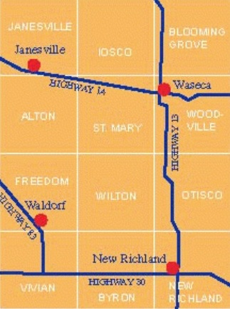 Waseca County map